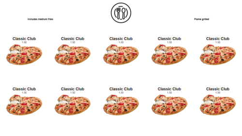 Increase Customers ratio with Best Pizza Menu Board