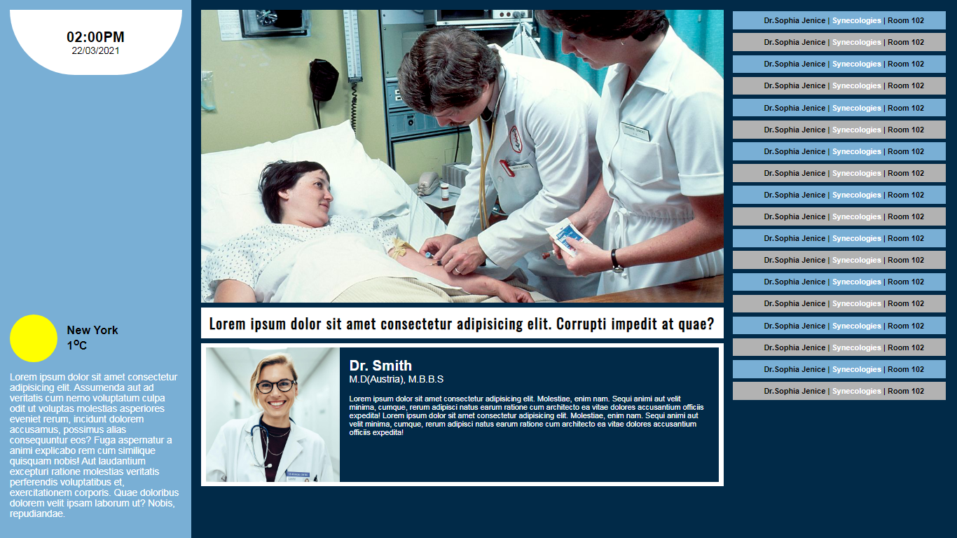 Best Digital Signage for Hospitals, Doctor Offices And Clinics In USA
